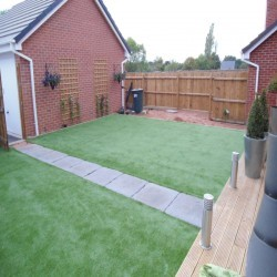 Fake Grass Lawn Surface in Whitemoor 12