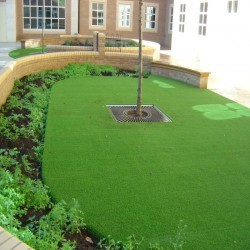 Synthetic Grass Playground in Aberbargoed 12