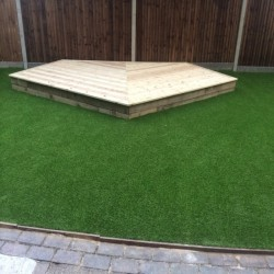 Synthetic Grass Playground in Aberbargoed 2