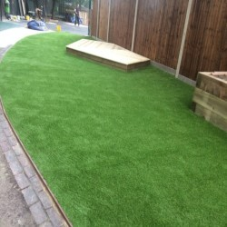 Synthetic Grass Playground in Much Hoole Moss Houses 8