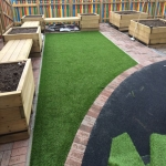 Fake Grass Lawn Surface in Whitemoor 9