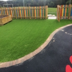 Synthetic Grass Playground in Apse Heath 2
