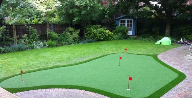 Artificial Golf Green in Annwell Place