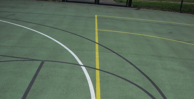MUGA Pitch Flooring in Angle