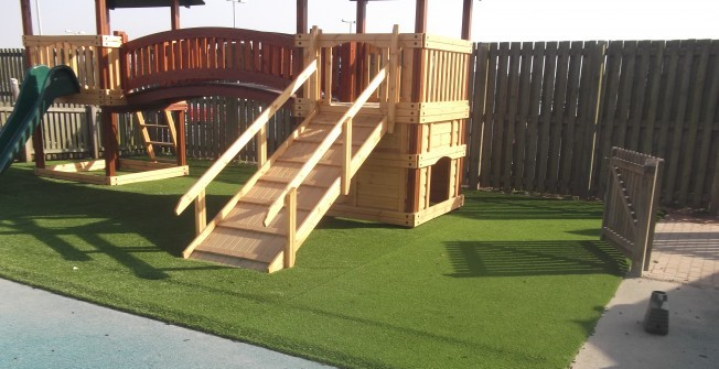 Synthetic Playground Grass in Lower Quinton