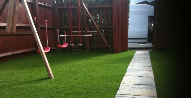 Artificial Play Turf in Much Hoole Moss Houses