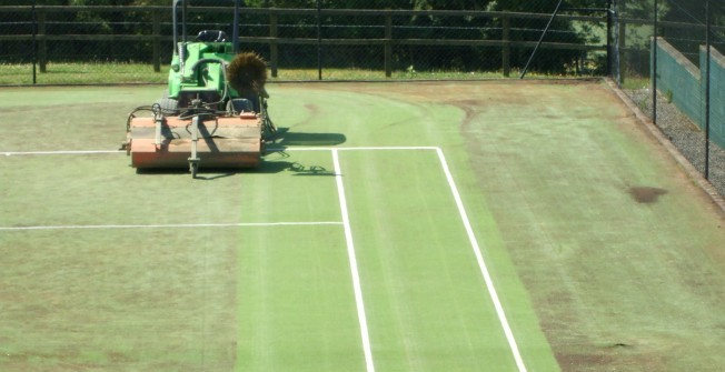 Sports Surface Maintenance in Almeley