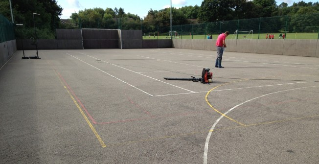 MUGA Pitch Maintenance in Croes y pant