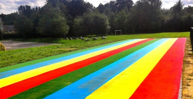 Synthetic Athletics Track in Egerton Forstal