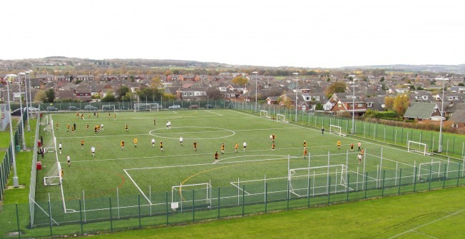 Advanced Hybrid Sports Pitch in Asfordby