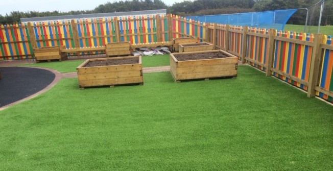 Synthetic Garden Turf in Abbey Green
