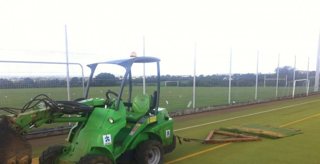 Sports Pitch Rejuvenation in South Brent