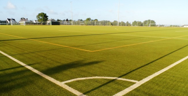 Artificial Sports Pitch in Aber Village