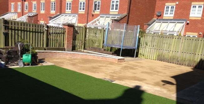 Synthetic Garden Grass in Wolvey