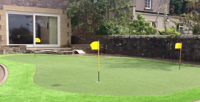 Backyard Golf Green in Caldicot/Cil-y-Coed